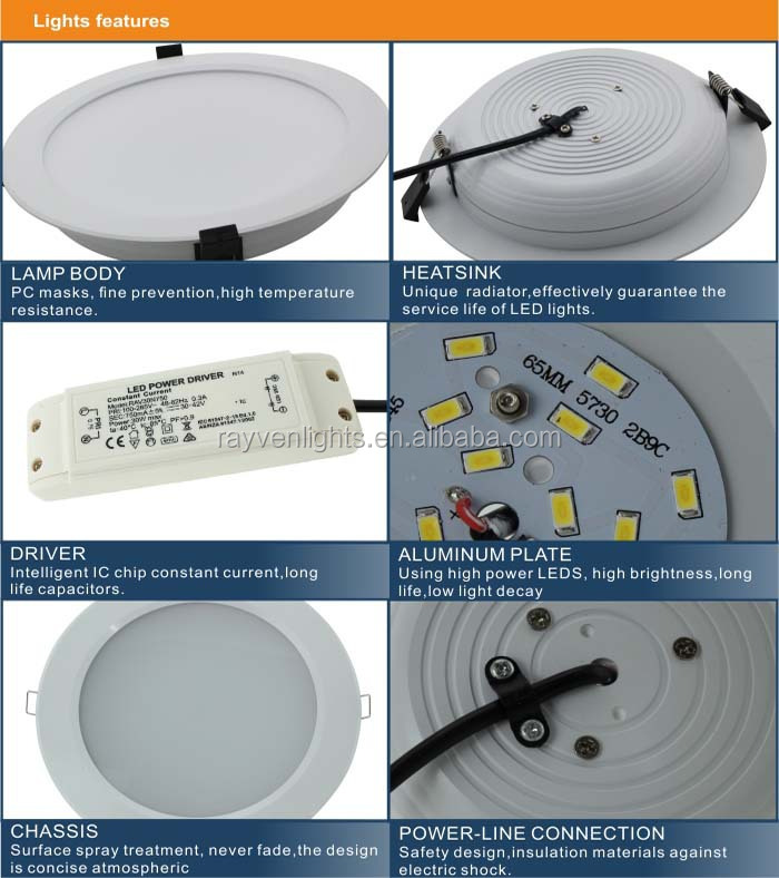 3 Years Warranty Hotel Lighting Retrofit Dimmable Led Round ...
