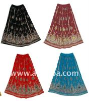 Sequin Long Skirts, Bohemian Ethnic Skirts-hollywood celerites long designer cotton sequins skirts