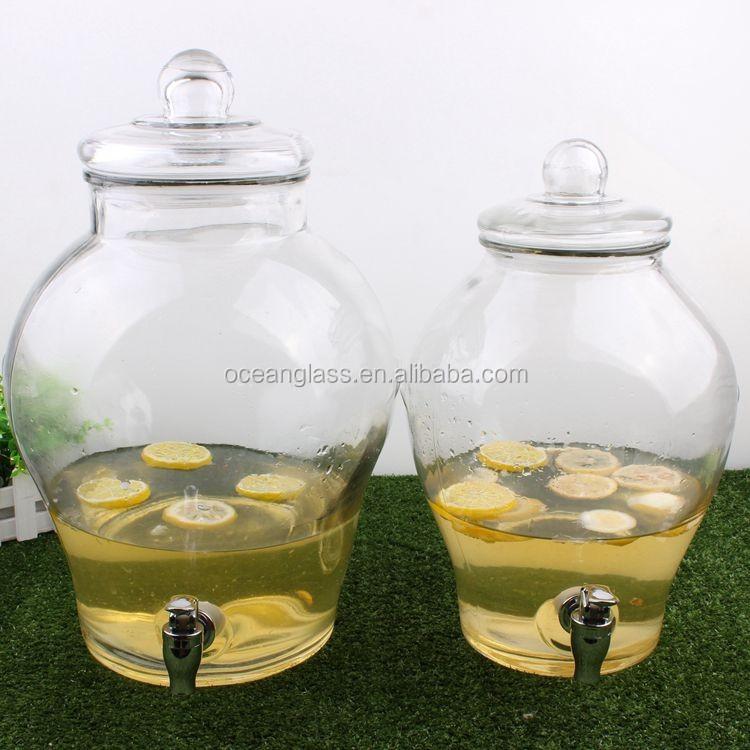 Lemon Water Bottle Water Dispenser Tap Glass Decanter ...