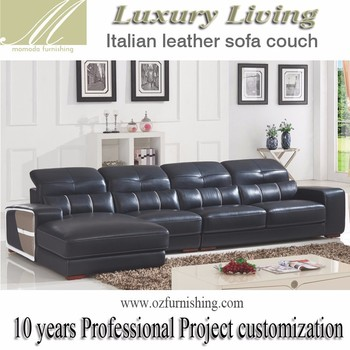Dz821 Special Modern Luxury Living Furniture Italy Black Leather