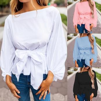 cy11751a 2019 fashion casual long-sleeved ladies tops latest design