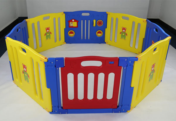8 Panels Anti-crack Colorful Plastic Baby Play Fence Wholesale Kid ...