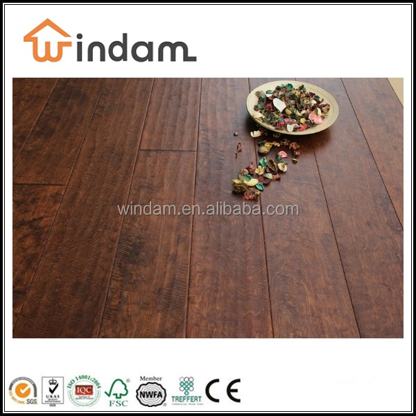 Rustic grade sunset stained cheap wood flooring oak