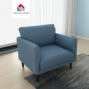 Home furniture fabric sofa European fabric tub chair modern house single sofa chair Fabric couch living room sofa in low price