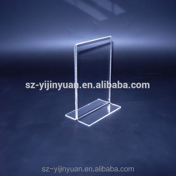custom Clear T L style acrylic sign holders board