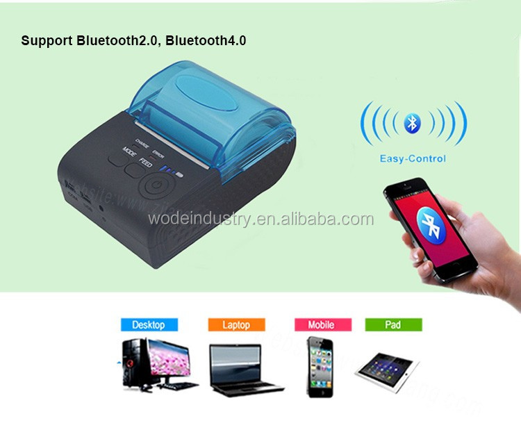 80mm Mini Mobile Portable Thermal Receipt Printer Bluetooth 4 0 Printer  Android Printer Free With Sdk - Buy 80mm Mini Mobile Printer,Portable  Thermal