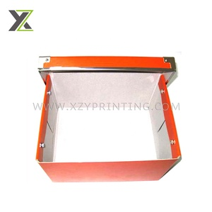 Rectangle orange printing top quality low cost hardcover cardboard box