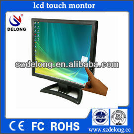 "hot sale!cheaper 15"" inch vga lcd touch screen <strong>monitor</strong>"