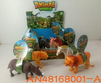 Hot Sale Non Toxic Large Plastic Zoo Animal Set Toys An48168001 A