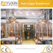 stainless steel or red copper beer brewing equipment 6HL for bar