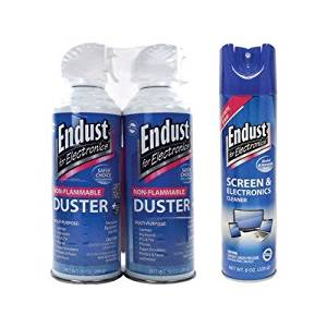 1 - Endust 096000 Multi-surface Anti-static Cleaner 248050 Electronics Duster, 2 Pack Electronics Dust Cleaning Kit With Anti-static Cleaner amp; Duster With Bitt, 8 Oz Multi-surface Electronics Anti-static Cleaner Repels Dust Once Applied, NOZMSDUSTKIT