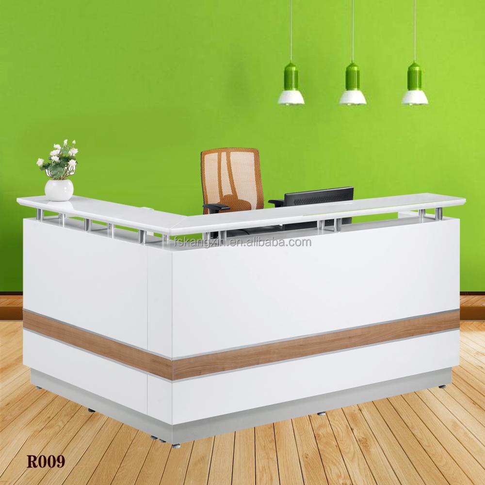 Zone xpression reception desk dmi pimlico series l for L shaped salon reception desk