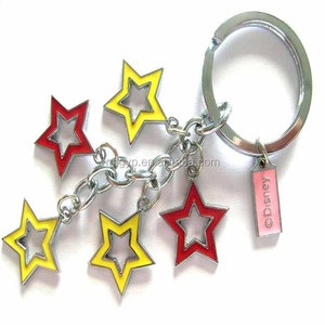 holiday souvenirs metal star shaped keychain maker