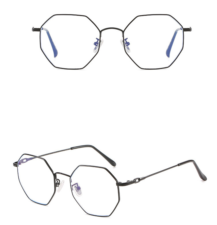 Men Women Oversized Polygon Blue Ray Computer Glasses Brand Designer Light Metal Quality Anti Reflective Lens Fashion Eyeglasses