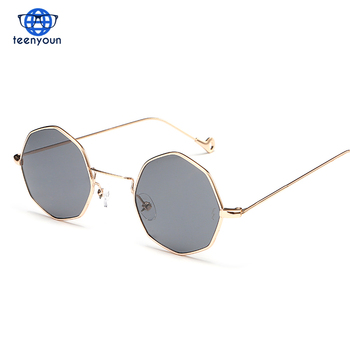 b5bff5196a01 Octagonal innovation Fashion Women Sunglasses Small frame polygon sunglasses  Brand Designer Men vintage Sun Glasses bulk