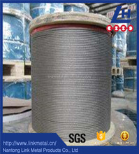 6*19 electro galvanized steel wire rope manufacturer