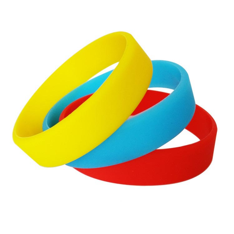 Promotional Logo Printed Custom Silicon Bracelet single color multi choices rubber wristband with youth size