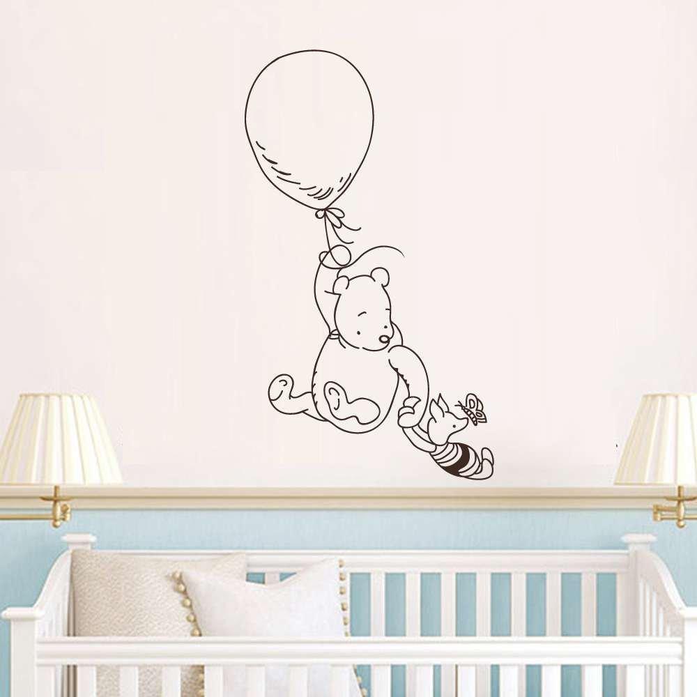 Battoo Winnie The Pooh Vinyl Wall Decals Clic Bear Piglet Balloon Nursery