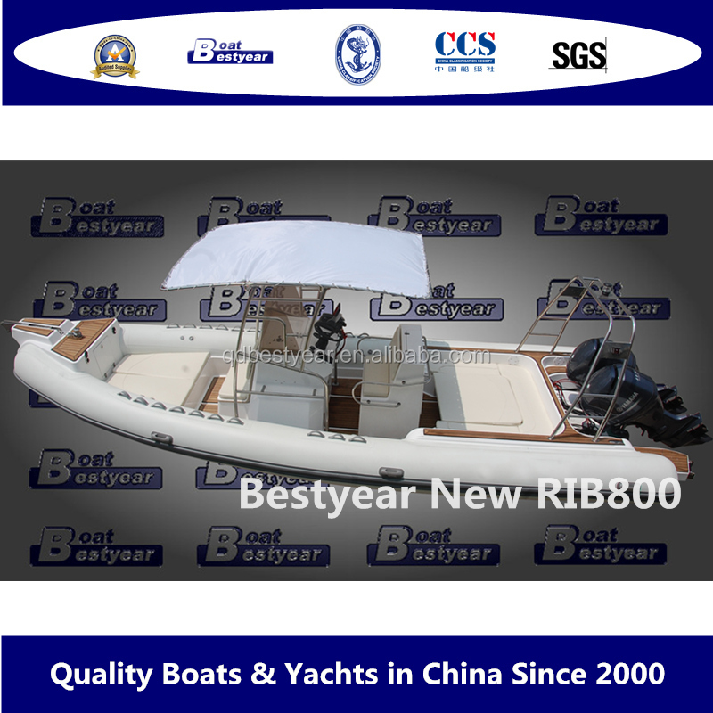 2016 New model boat inflatable boat RIB boat RIB800 for sale