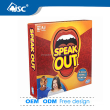 2016 popular hot selling speak out board game Christmas family party game card manufacture