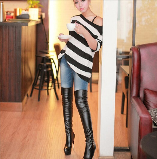 overknee boots leather sex hidden dorm sex. Black Bedroom Furniture Sets. Home Design Ideas