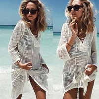 2018 Hot Selling Custom Crochet Beach Cover Up Beach Kaftan