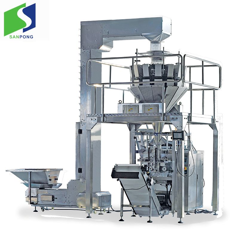 Potato chips bag packing line for food industry pouch packing machine
