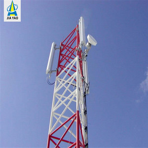 120 feet 3 legs tube self supporting steel hot dip galvanized telecom telecommunication communication cell wifi tower