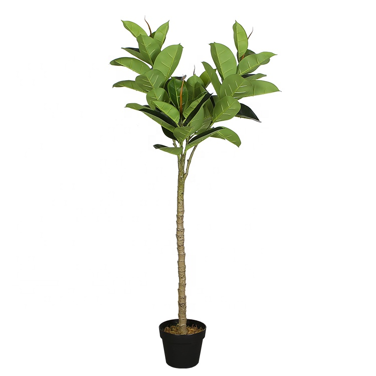 1.3m Potted Oak <strong>Tree</strong> Bonsai Faux <strong>House</strong> Plants For <strong>Home</strong> Decor Y8516-51-4-1PS Artificial Rubber Ficus