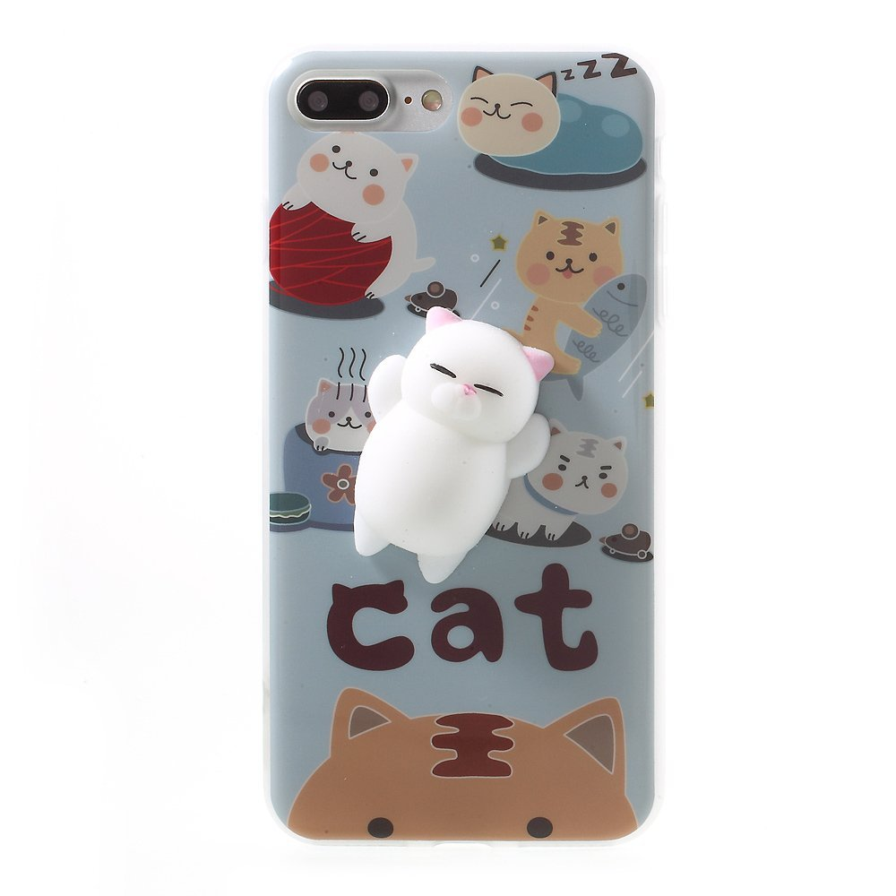 Wholesale Squishy 3D Cats Phone Cover Case For iPhone 7 Plus