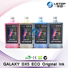 100% Original! Odorless Dx5 Printhead galaxy dx5 eco ink for printing machine(1L/bottle )