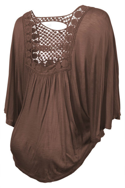 eed74e5c7f6 OEM Wholesale Crochet Bodice Poncho batwing sleeve asymmetric hemline  hollow out lace Top plus size women