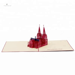 German Building Cologne Cathedral Pop Up Card Customizable