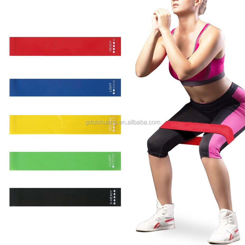 100 % Natural Latex Fitness Elastic Custom Crossfit Resistance Band
