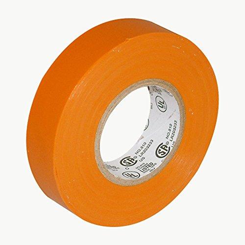 "J.V. Converting E-tape/OR07522 JVCC E-Tape Colored Electrical Tape: 3/4"" x 66 ft., Orange"
