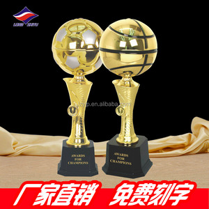 New design for the basketball and soccer ball trophy award.
