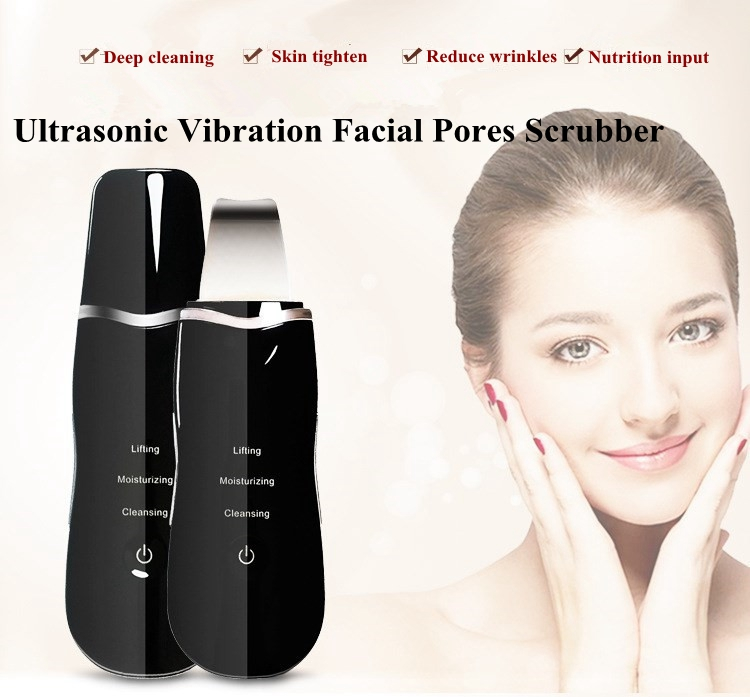 Best Selling Products Galvanic Ultrasonic Blackhead Removal Device Exfoliator for Deep Cleansing