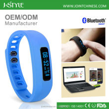 High quality ODM/OEM bluetooth 4.0 fitness bracelet bluetooth watch wristband pedometer fit bit activity tracker