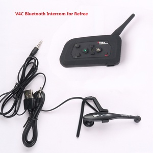 China Manufacturer Referee Intercom Headset Interphone V4C Walkie-Talkie Waterproof 150 Hours Standby Time Full-duplex 1200M