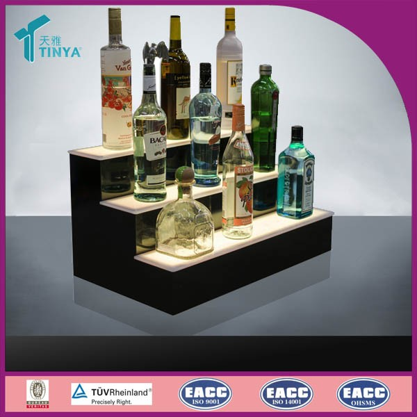 High Quality Acrylic Wine Display Stand with LED Light Liquor Wine Bottle Display Stand Acrylic Wine Bottle Display Racks