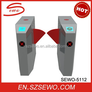 SEWO High quality automatic pedestrian door, retractable gate,brake,flap,turnstile flap barrier