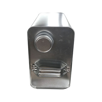 4L engine oil/petrol use square metal tin can with metal cap