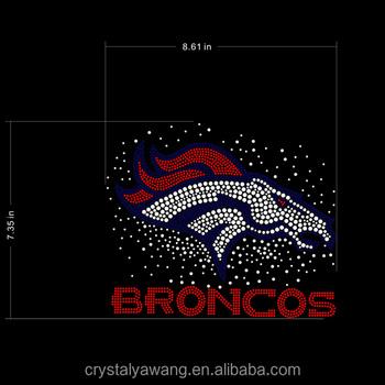 De Hierro En El Futbol De Los Broncos De Denver Diseno De Diamantes De Imitacion De Transferencia Para La Ropa Decoracion Buy Los Broncos De Diseno De Diamantes De Imitacion De