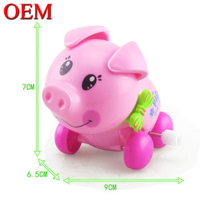 7CM PVC Material Lovely Pig Animal Wind Up Toys