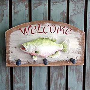 CCWY Welcomes the Mediterranean hooks adhering the welcome coat hook creative home key fishing, Sepia
