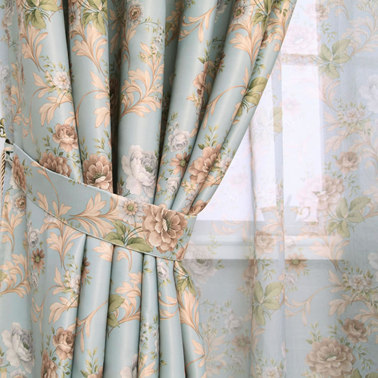 Hot-Sale-Modern-Rose-Floral-Curtains-For-Window-Curtain
