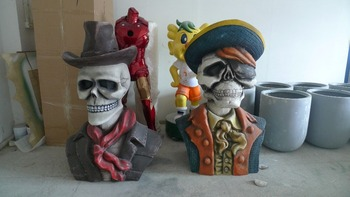 fiberglass outdoor ghost halloween decorations statue