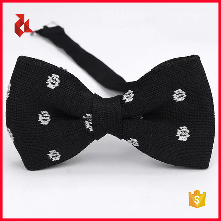 Fashion Men's Polyester Custom Knitted Bow Ties