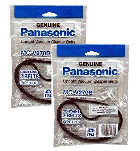Panasonic MC-V270B Type UB-8 Belts (2-Pack) (Total of 4 Belts)