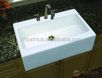 Top Mount A Front White Cast Iron Kitchen Sinks Product On Alibaba